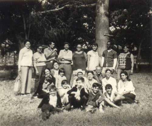 Segunda de izquierda a derecha es mi abuela Cleo, el cuarto mi abuelo Cuartero